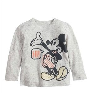 Disney's Mickey Mouse Baby Hi Bye Front Back Tee